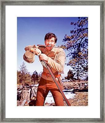 Fess Parker In Daniel Boone  Framed Print