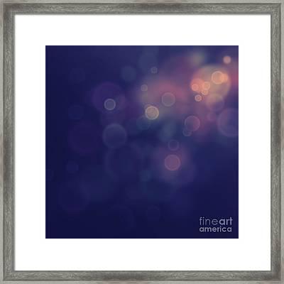 Festive Bokeh Background Framed Print by Mythja  Photography