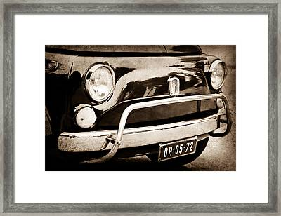 Fiat 500 L Front End Framed Print