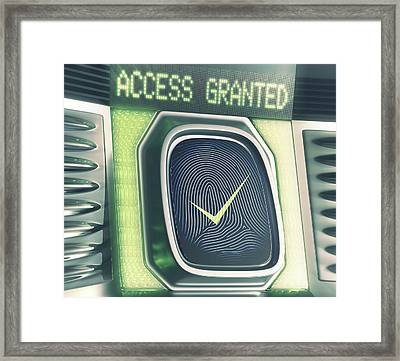 Fingerprint Scanner Framed Print by Ktsdesign