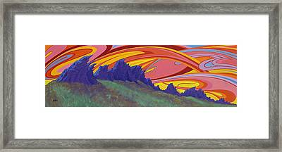 Fire Sky Over Devil's Backbone Framed Print