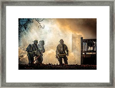 Firefighters Framed Print by Everet Regal