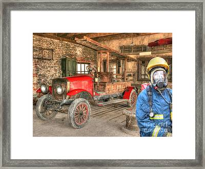 Fireman - Days Gone By  Framed Print