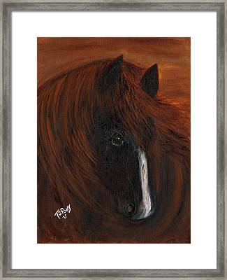 Framed Print featuring the painting Firestorm by Barbie Batson