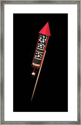 Firework Structure Framed Print by Mikkel Juul Jensen
