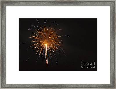 Fireworks - Lincoln New Hampshire Usa Framed Print by Erin Paul Donovan
