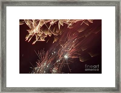 Fireworks On Bastille Day Framed Print by Sami Sarkis