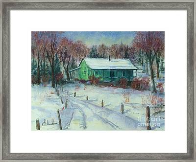 First Snow Framed Print by Bruce Schrader