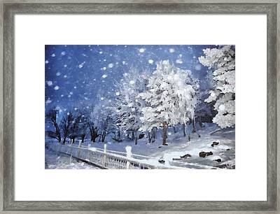 First Snow Framed Print by Gun Legler