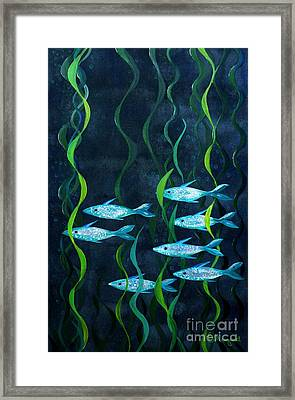 Fish Framed Print by Barbara Moignard