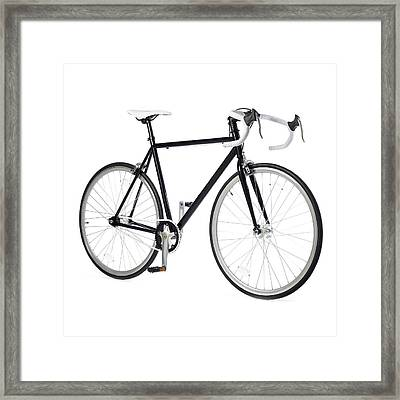 Fixed-gear Road Bike Framed Print by Science Photo Library