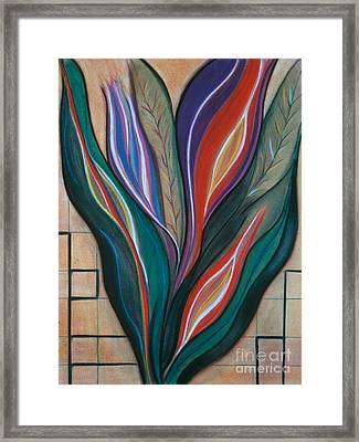 Flame Bouquet Framed Print