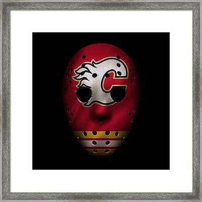 Flames Jersey Mask Framed Print by Joe Hamilton