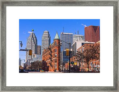 Flatiron Building In Toronto Framed Print