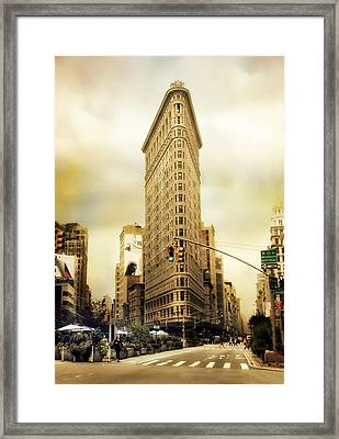 Flatiron Crossing Framed Print by Jessica Jenney