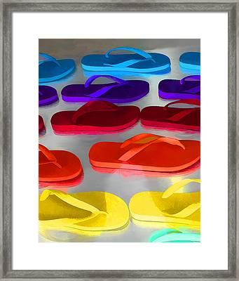 Flip Flopped Framed Print