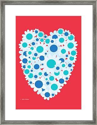 Floral Heart Valentine Framed Print
