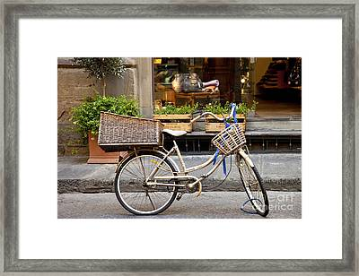 Florence Bicycle  Framed Print by Brian Jannsen