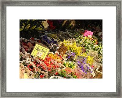 Flowers For Sale Framed Print