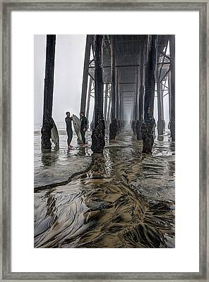 Fog At The Pier Framed Print by Ann Patterson