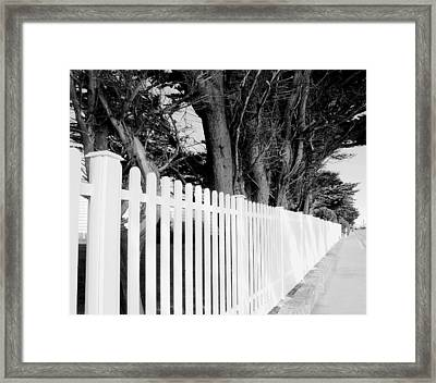 Follow The Fence Framed Print by Julie Palencia