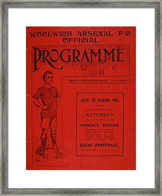 Football Programme Framed Print by British Library