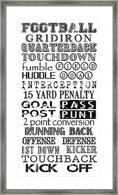 Football Subway Art Framed Print
