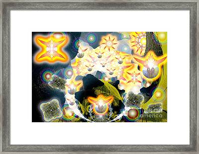 Forces Unite Ophanim Assemble Framed Print by Aeres Vistaas