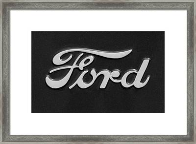 Ford Emblem Framed Print by Jill Reger