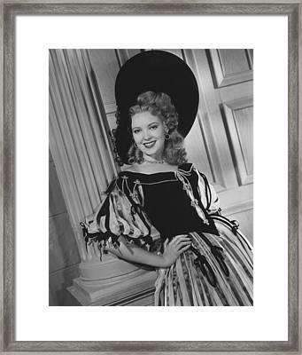 Forever Amber, Linda Darnell, 1947, Tm Framed Print by Everett