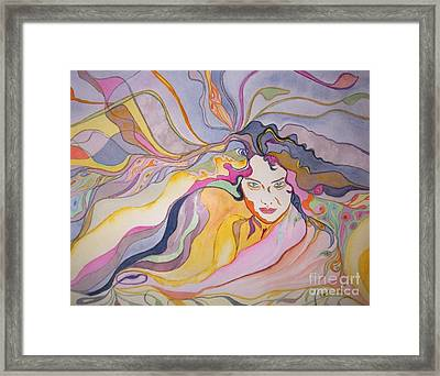 Framed Print featuring the painting Forever by Diana Bursztein