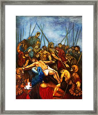 Forgive Them Father For They Know Not What They Do Framed Print