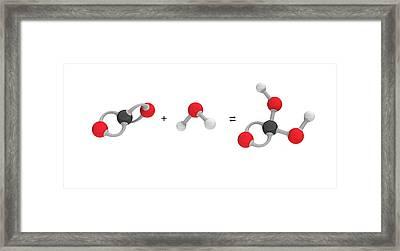 Formation Of Carbonic Acid Framed Print by Mikkel Juul Jensen