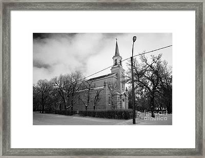 former st josephs catholic church in Forget Saskatchewan Canada Framed Print by Joe Fox
