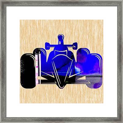 Formula One Race Car Framed Print