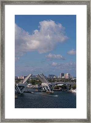 Fort Lauderdale, Port Everglades Framed Print