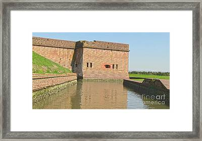 Fort Pulaski Moat System Framed Print by D Wallace