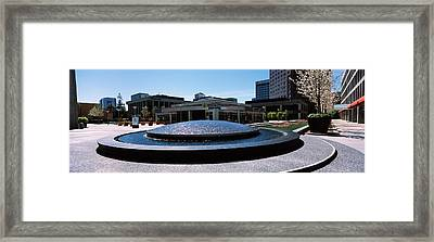 Fountain In A Park, Plaza De Cesar Framed Print by Panoramic Images