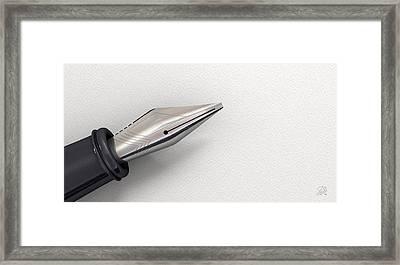 Fountain Pen In Resting Position Framed Print
