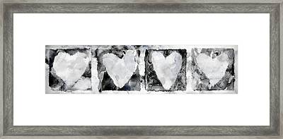 Four Hearts Framed Print