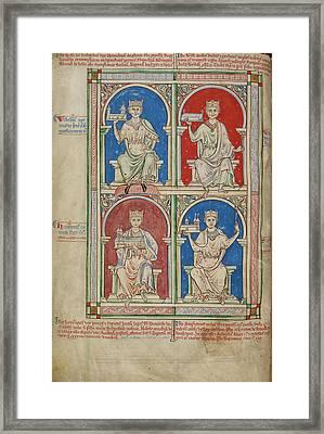 Four Kings Of England Framed Print