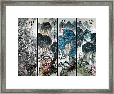 Four Seasons In Harmony Framed Print