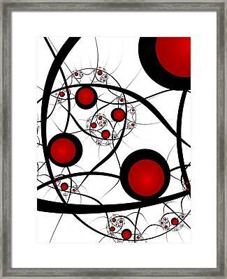 Fractal Balance Framed Print