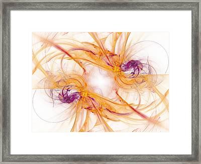 Fractal Framed Print by Lucie Rejmanova