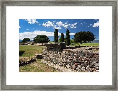 France, Corsica, Costa Serena, Aleria Framed Print by Walter Bibikow