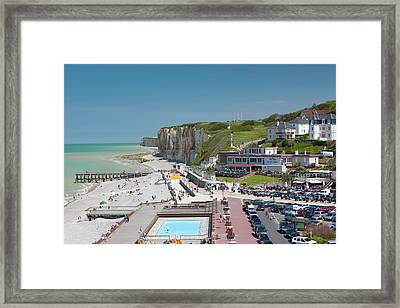 France, Normandy, Veules Les Roses Framed Print by Walter Bibikow