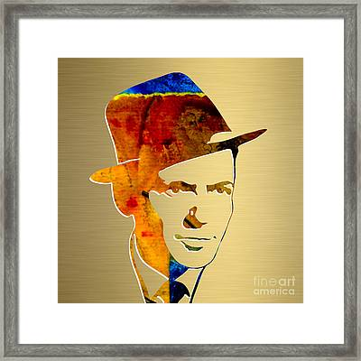 Frank Sinatra Gold Series Framed Print by Marvin Blaine