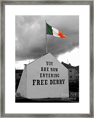 Free Derry Wall Framed Print by Nina Ficur Feenan