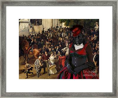 French Bulldog Art Canvas Print Framed Print by Sandra Sij