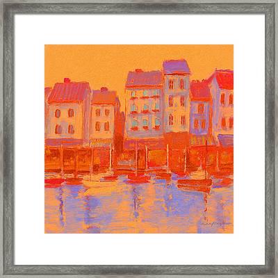French Harbor Framed Print